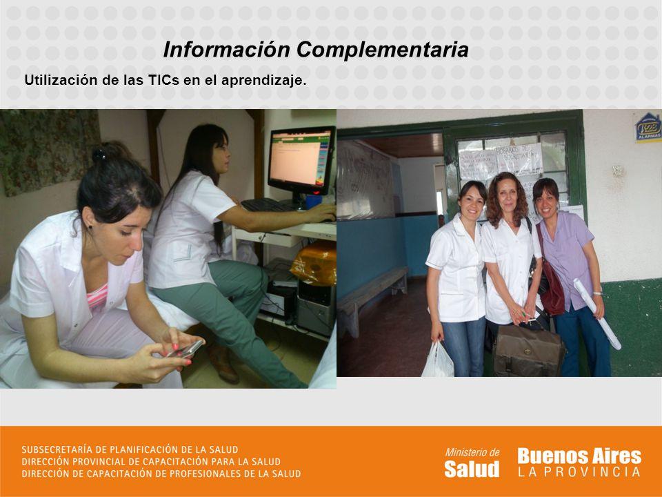 Información Complementaria Utilización de las TICs en el aprendizaje.