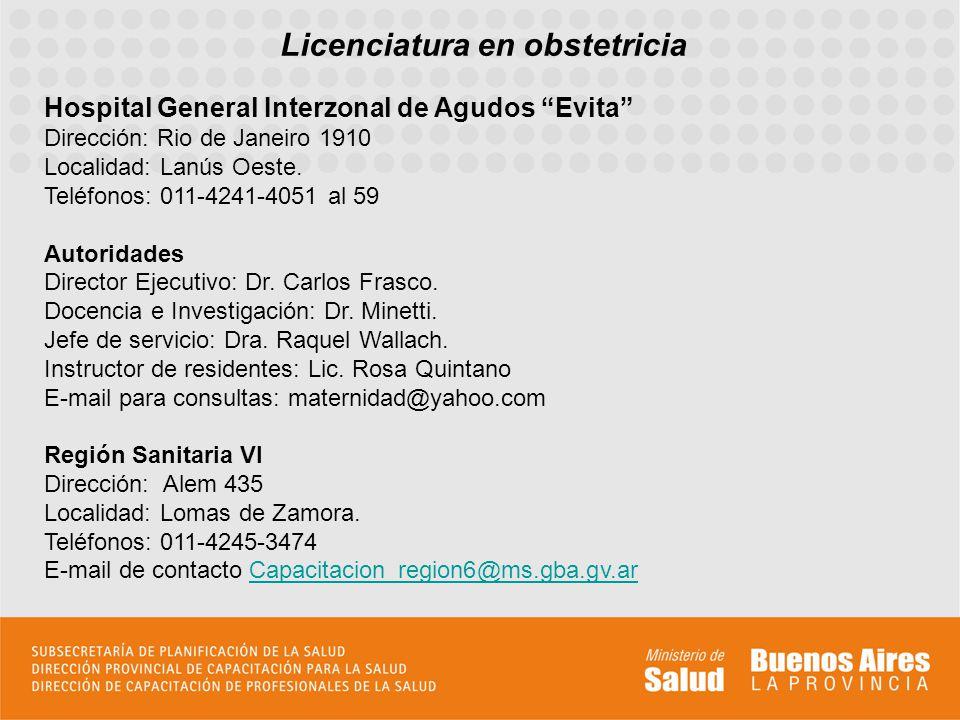 Licenciatura en obstetricia