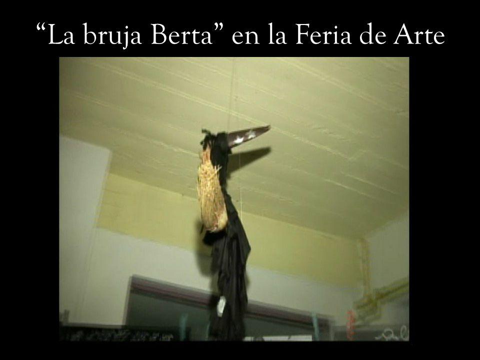 La bruja Berta en la Feria de Arte