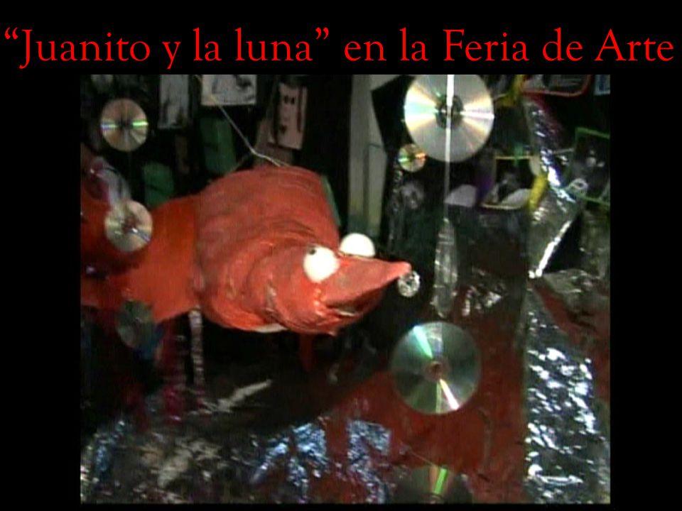 Juanito y la luna en la Feria de Arte