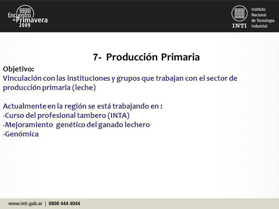 7- Producción Primaria Objetivo: