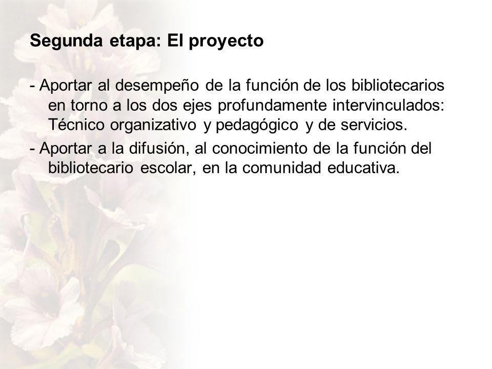 Segunda etapa: El proyecto