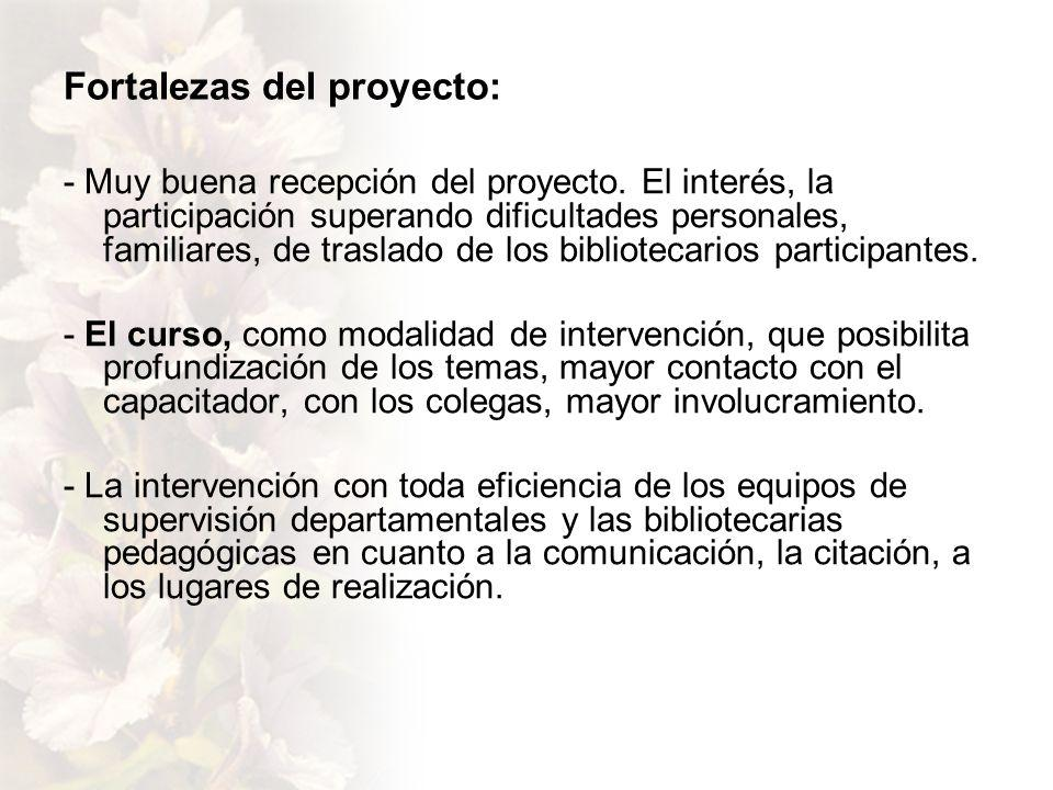 Fortalezas del proyecto: