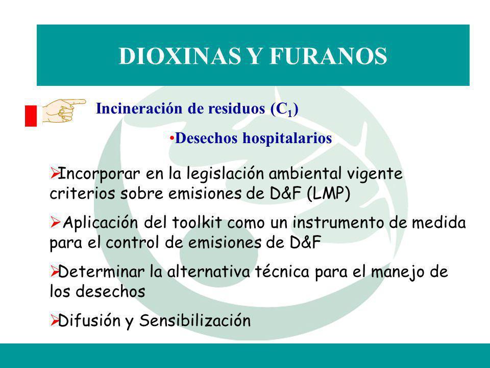 DIOXINAS Y FURANOS Incineración de residuos (C1)