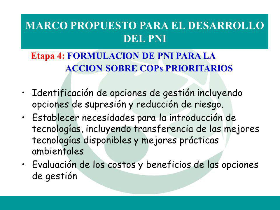 MARCO PROPUESTO PARA EL DESARROLLO DEL PNI