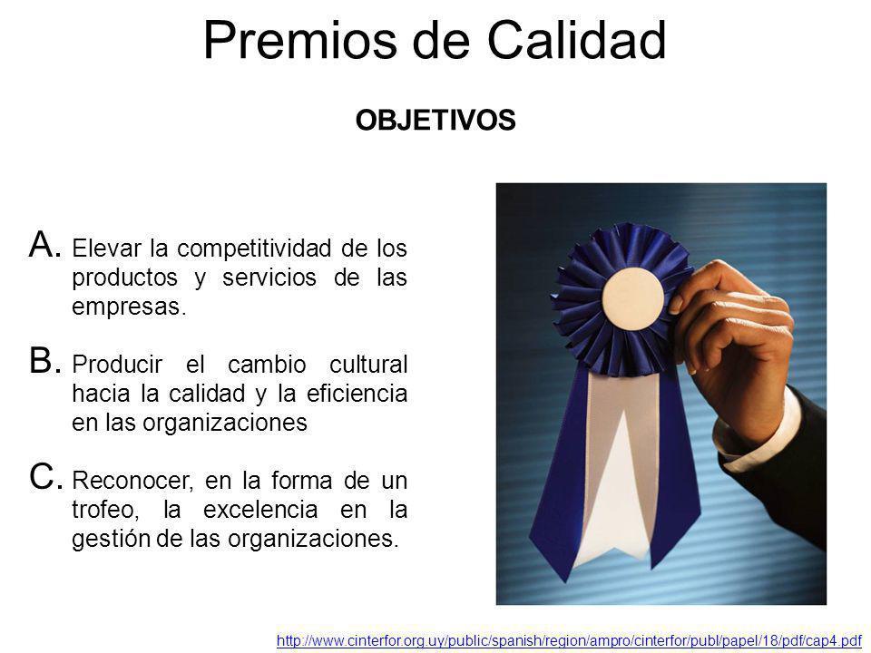 Premios de Calidad OBJETIVOS