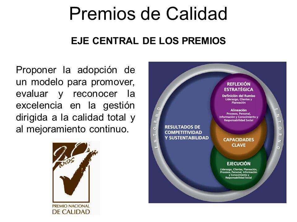 EJE CENTRAL DE LOS PREMIOS