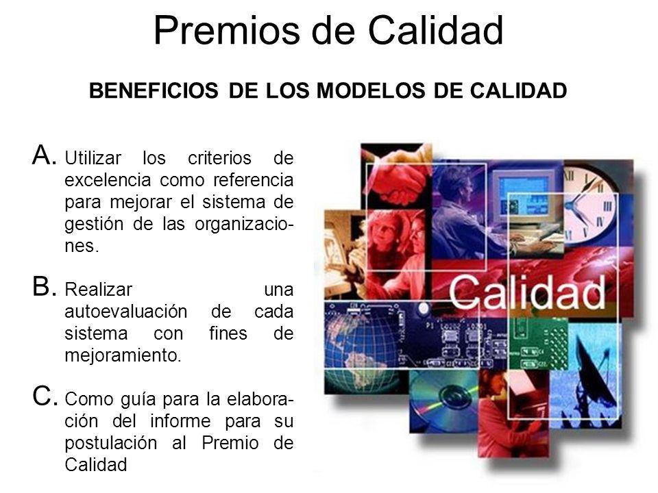 BENEFICIOS DE LOS MODELOS DE CALIDAD