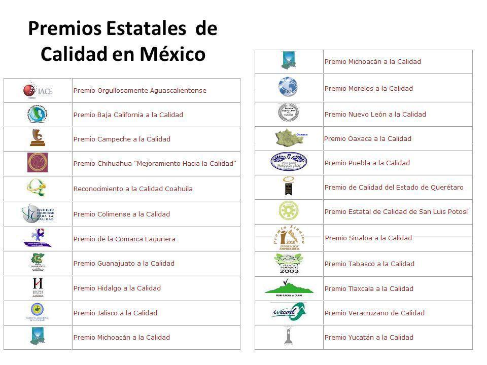 Premios Estatales de Calidad en México