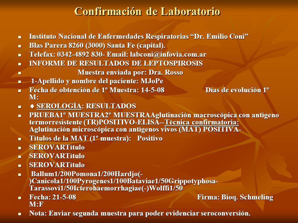 Confirmación de Laboratorio
