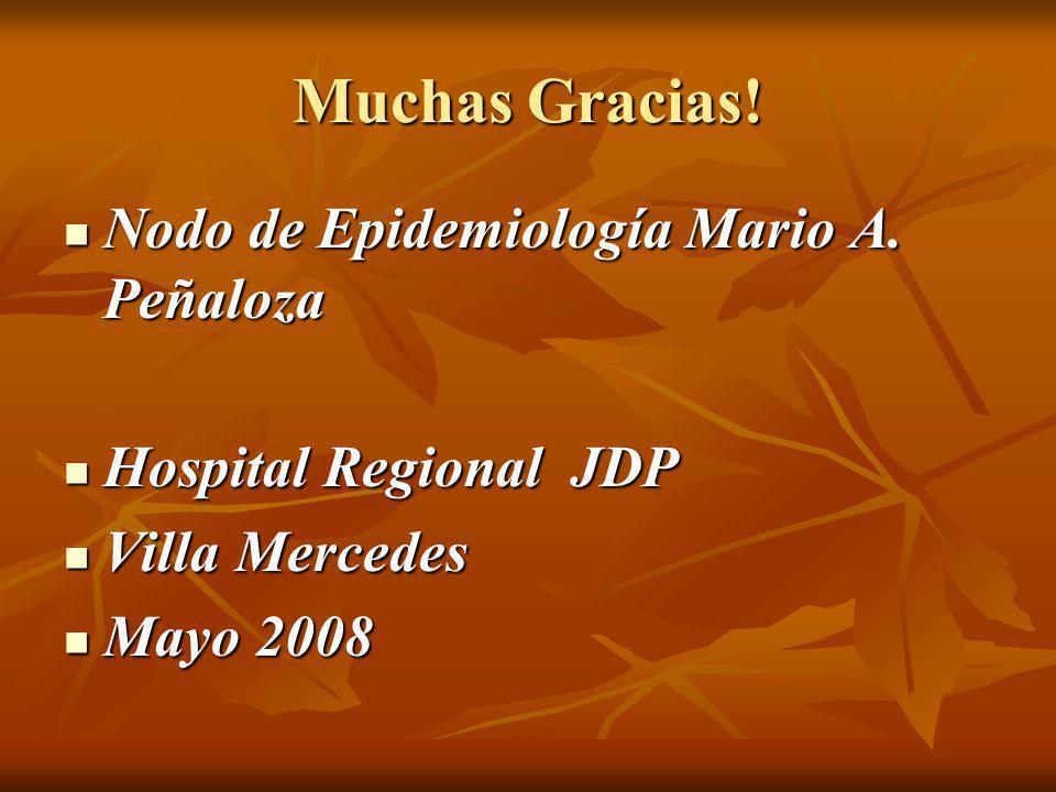 Muchas Gracias! Nodo de Epidemiología Mario A. Peñaloza