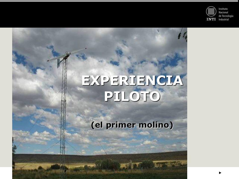 EXPERIENCIA PILOTO (el primer molino)