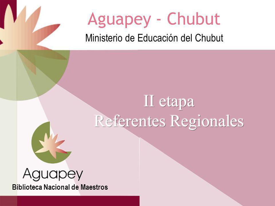 II etapa Referentes Regionales