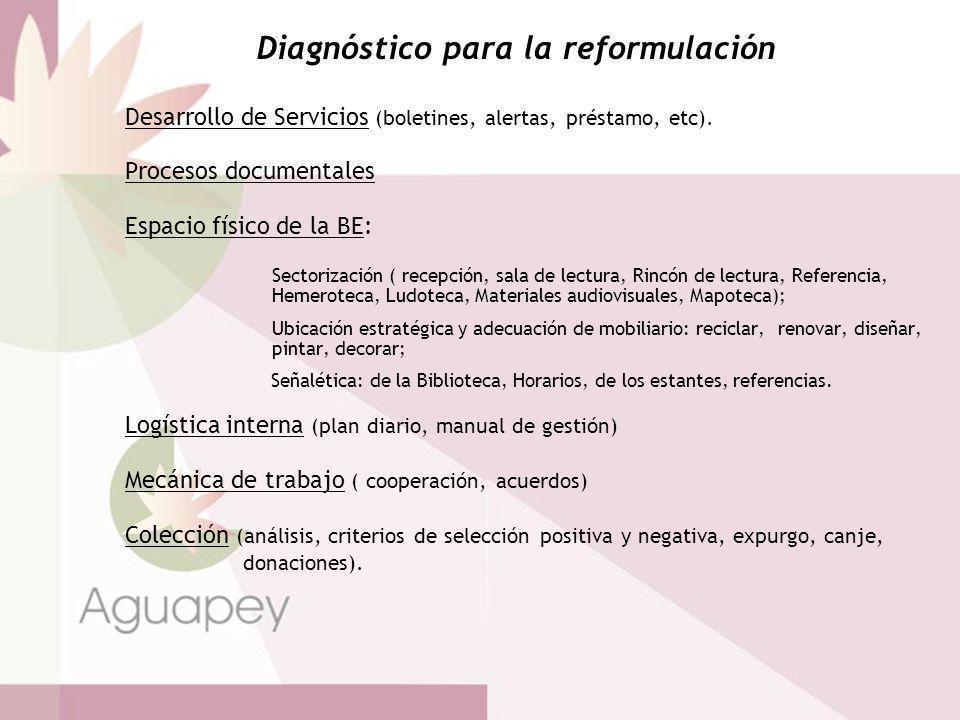 Diagnóstico para la reformulación
