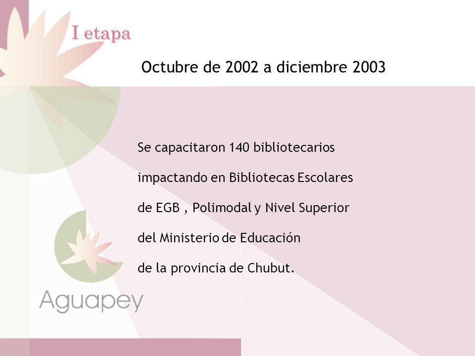 I etapa Octubre de 2002 a diciembre 2003