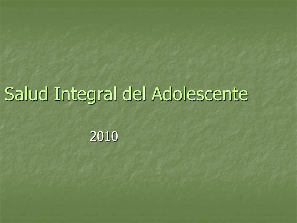 Salud Integral del Adolescente