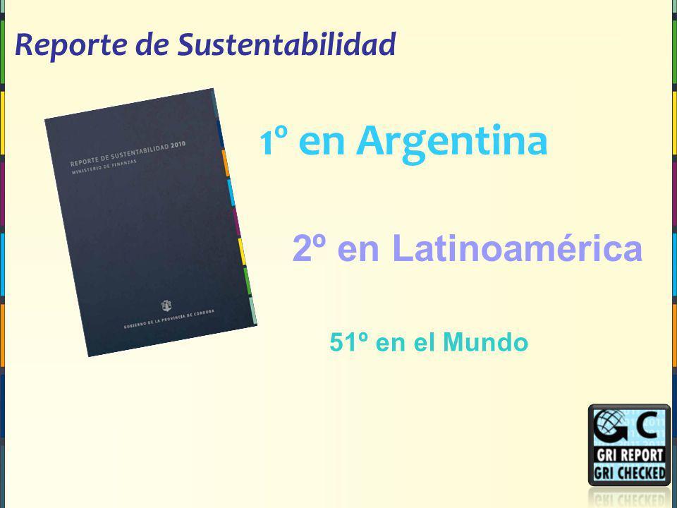 1º en Argentina 2º en Latinoamérica Reporte de Sustentabilidad