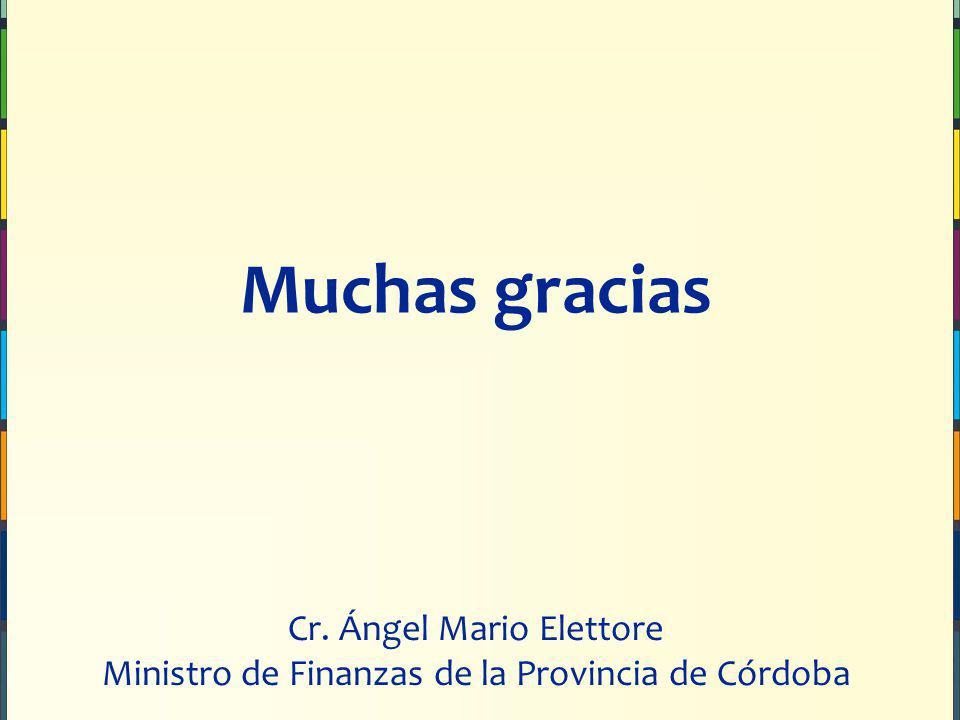 Muchas gracias Cr. Ángel Mario Elettore