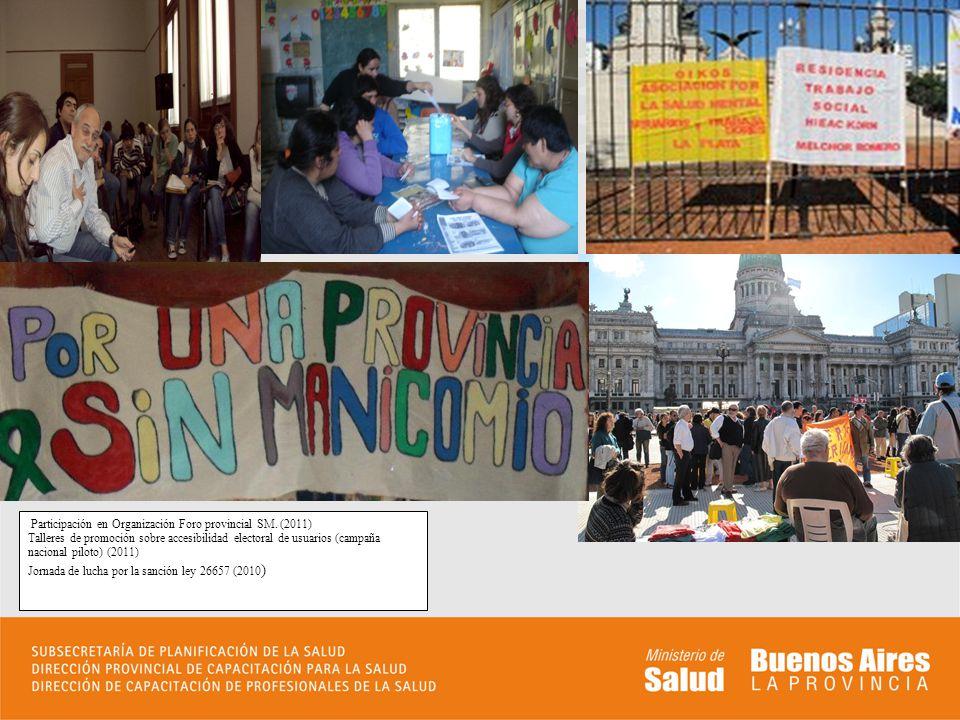 Participación en Organización Foro provincial SM. (2011)