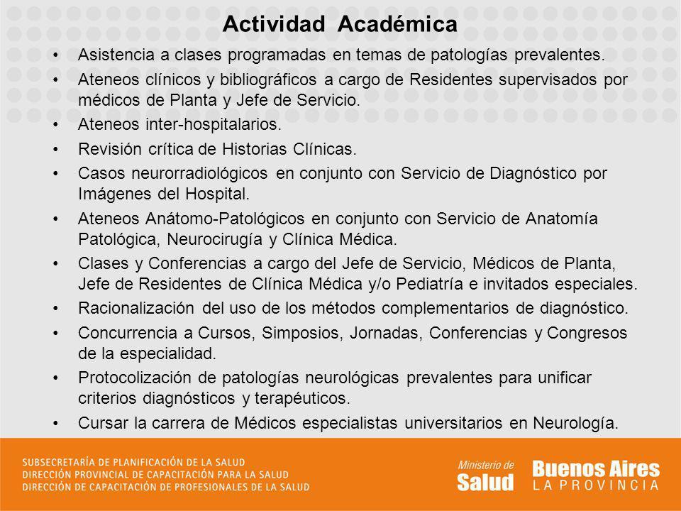 Actividad Académica Asistencia a clases programadas en temas de patologías prevalentes.