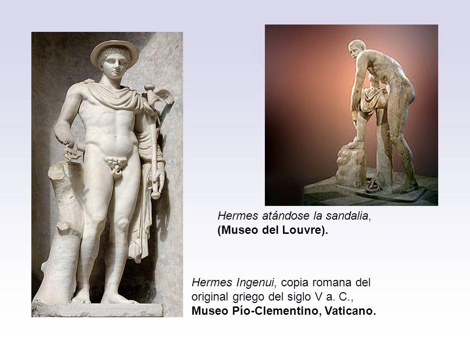 Hermes atándose la sandalia,