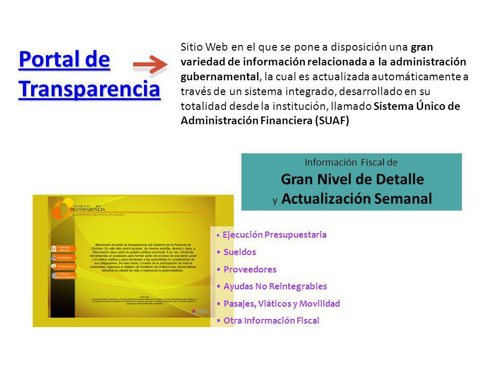 Información Fiscal de Gran Nivel de Detalle y Actualización Semanal