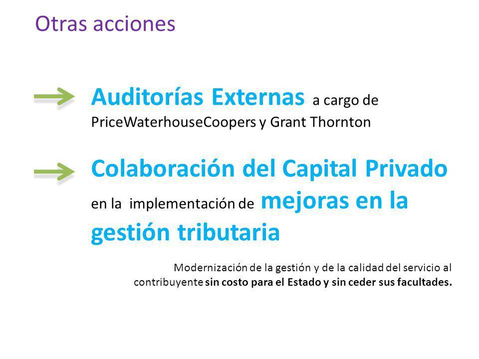 Auditorías Externas a cargo de PriceWaterhouseCoopers y Grant Thornton
