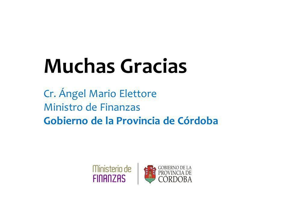 Muchas Gracias Cr. Ángel Mario Elettore Ministro de Finanzas