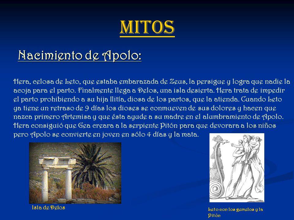 MITOS Nacimiento de Apolo:
