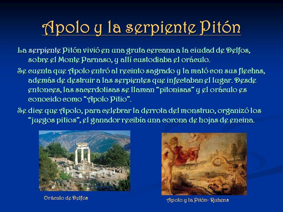 Apolo y la serpiente Pitón
