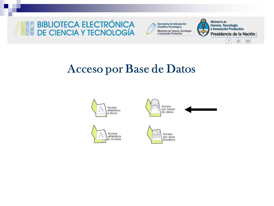 Acceso por Base de Datos