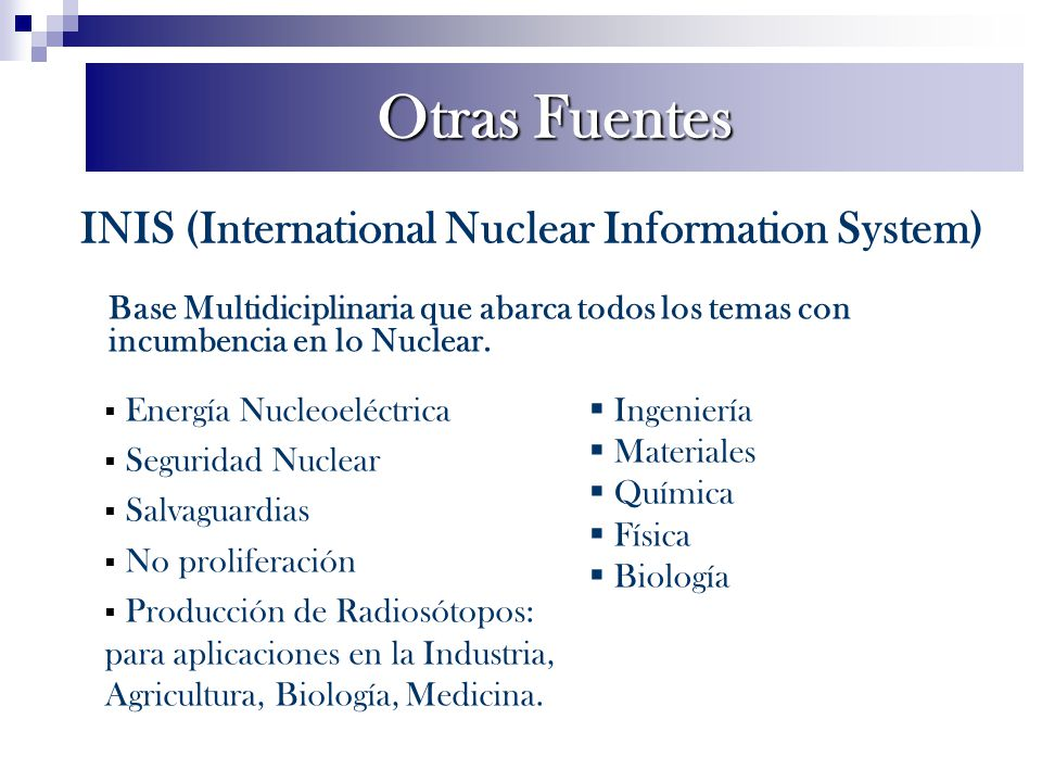 INIS (International Nuclear Information System)