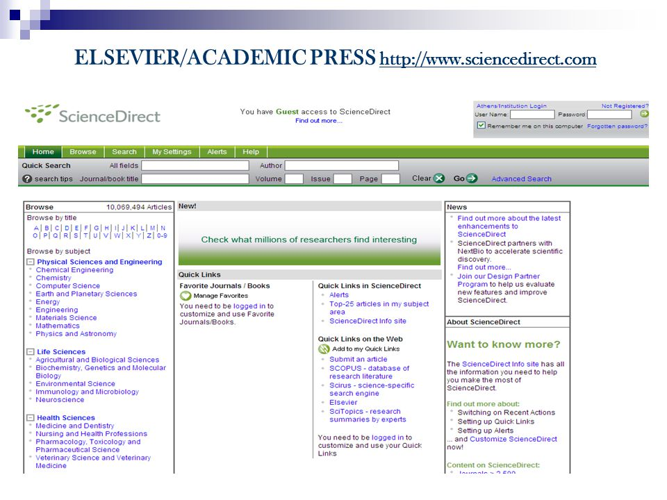 ELSEVIER/ACADEMIC PRESS http://www.sciencedirect.com