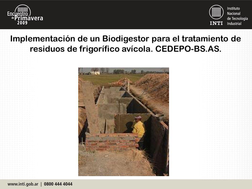 Implementación de un Biodigestor para el tratamiento de residuos de frigorífico avícola.