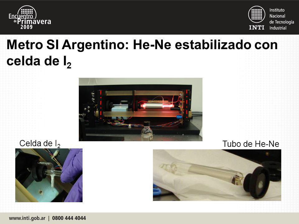 Metro SI Argentino: He-Ne estabilizado con celda de I2