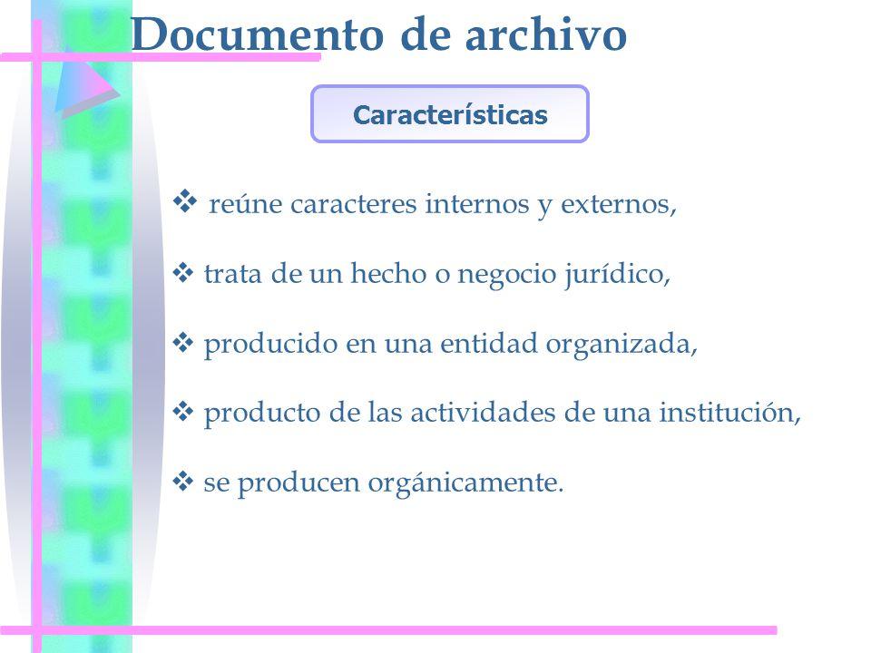 Documento de archivo reúne caracteres internos y externos,
