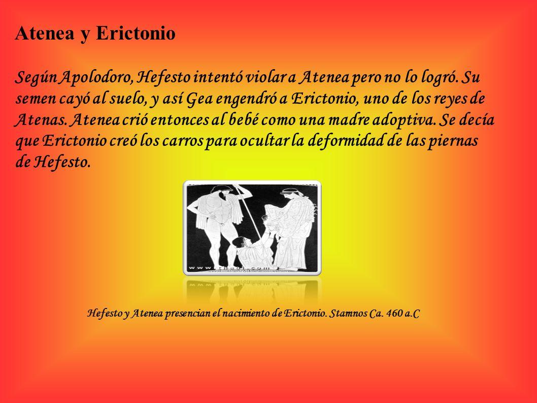 Atenea y Erictonio