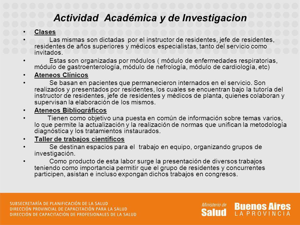 Actividad Académica y de Investigacion