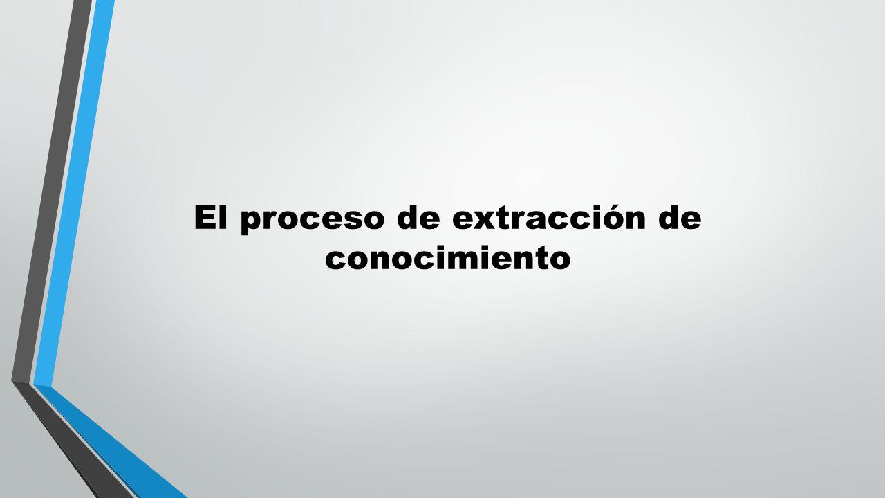 El proceso de extracción de conocimiento