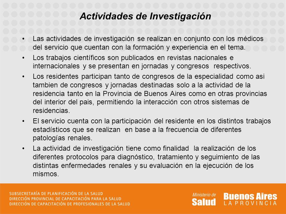 Actividades de Investigación