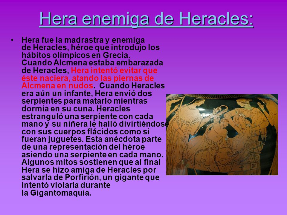 Hera enemiga de Heracles: