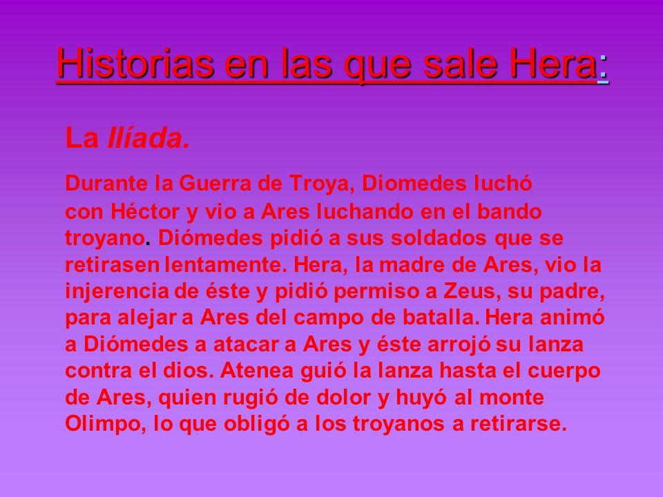 Historias en las que sale Hera: