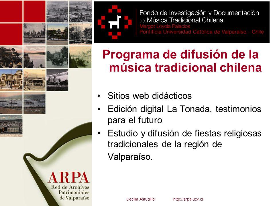 Programa de difusión de la música tradicional chilena