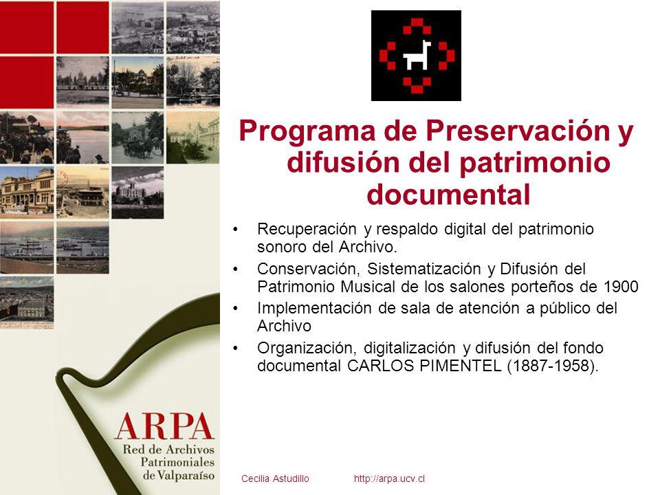 Programa de Preservación y difusión del patrimonio documental
