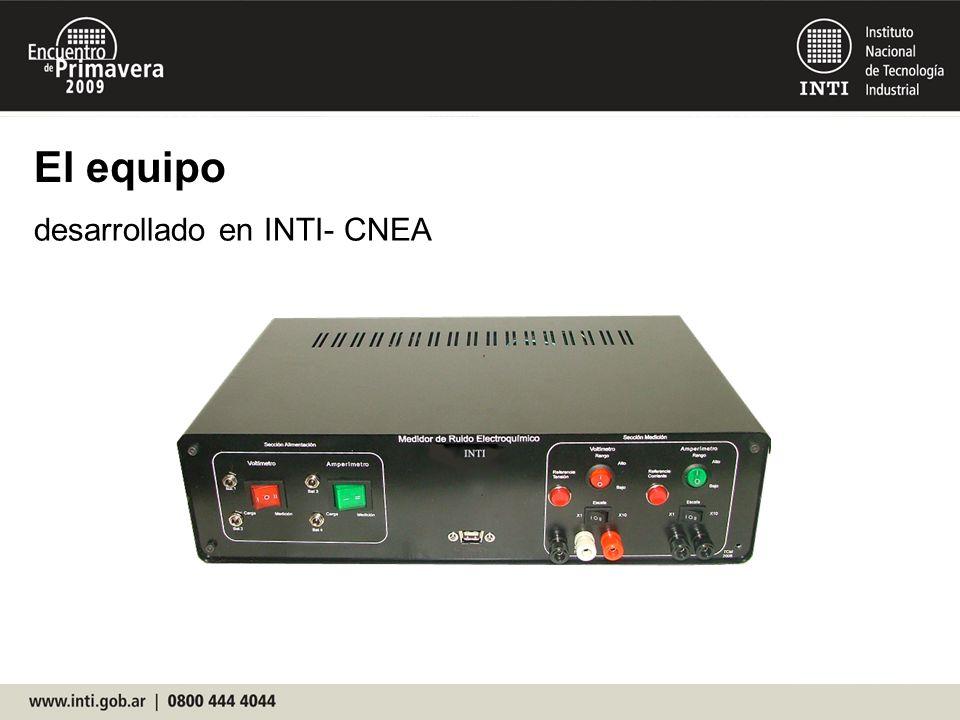 El equipo desarrollado en INTI- CNEA 19