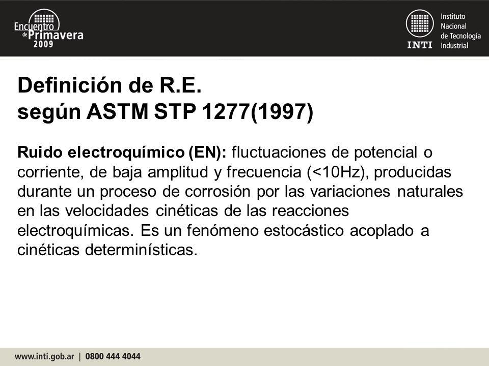 Definición de R.E. según ASTM STP 1277(1997)