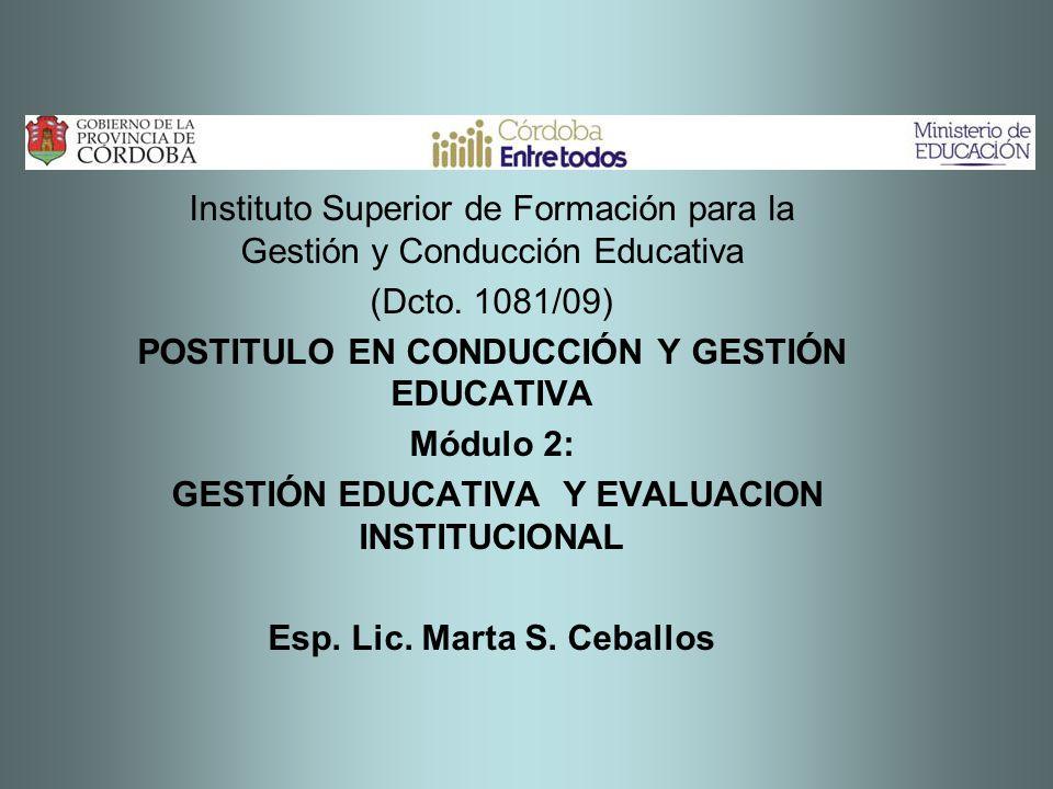 Instituto Superior de Formación para la Gestión y Conducción Educativa