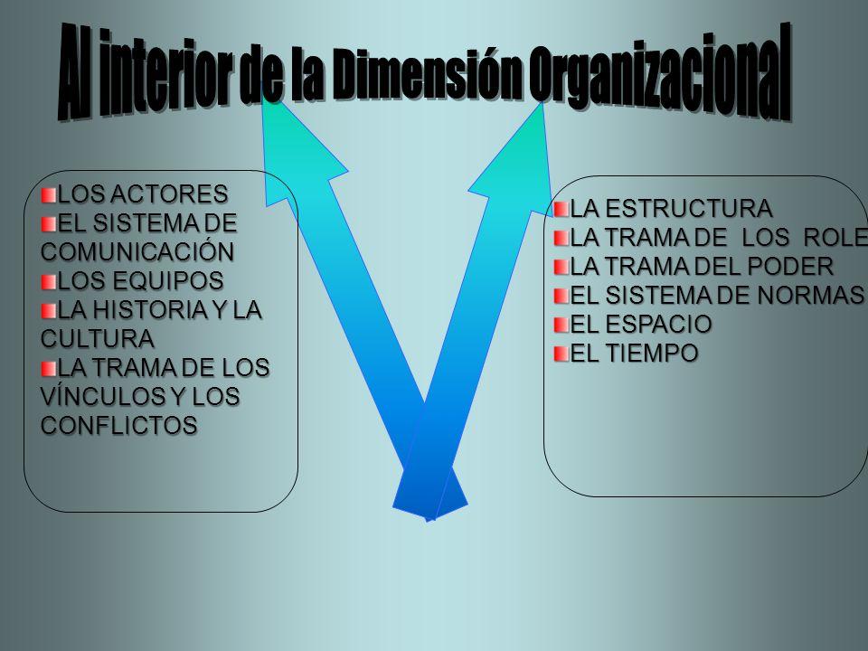 Al interior de la Dimensión Organizacional