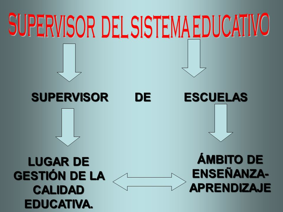 SUPERVISOR DEL SISTEMA EDUCATIVO