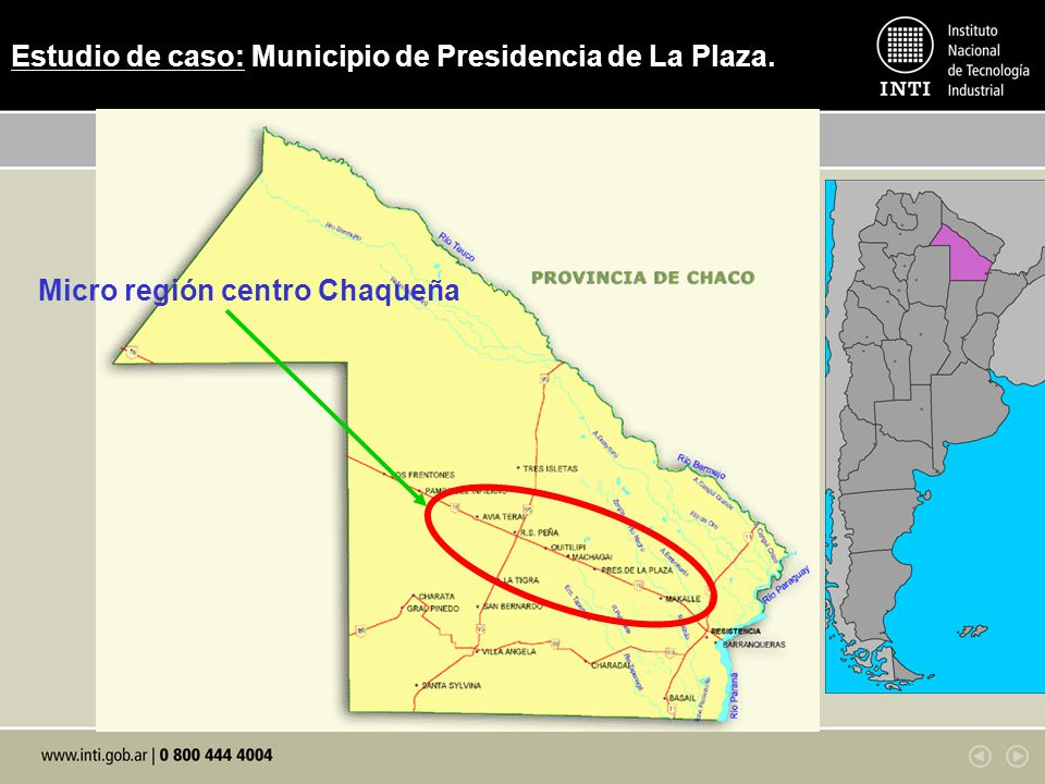 Estudio de caso: Municipio de Presidencia de La Plaza.